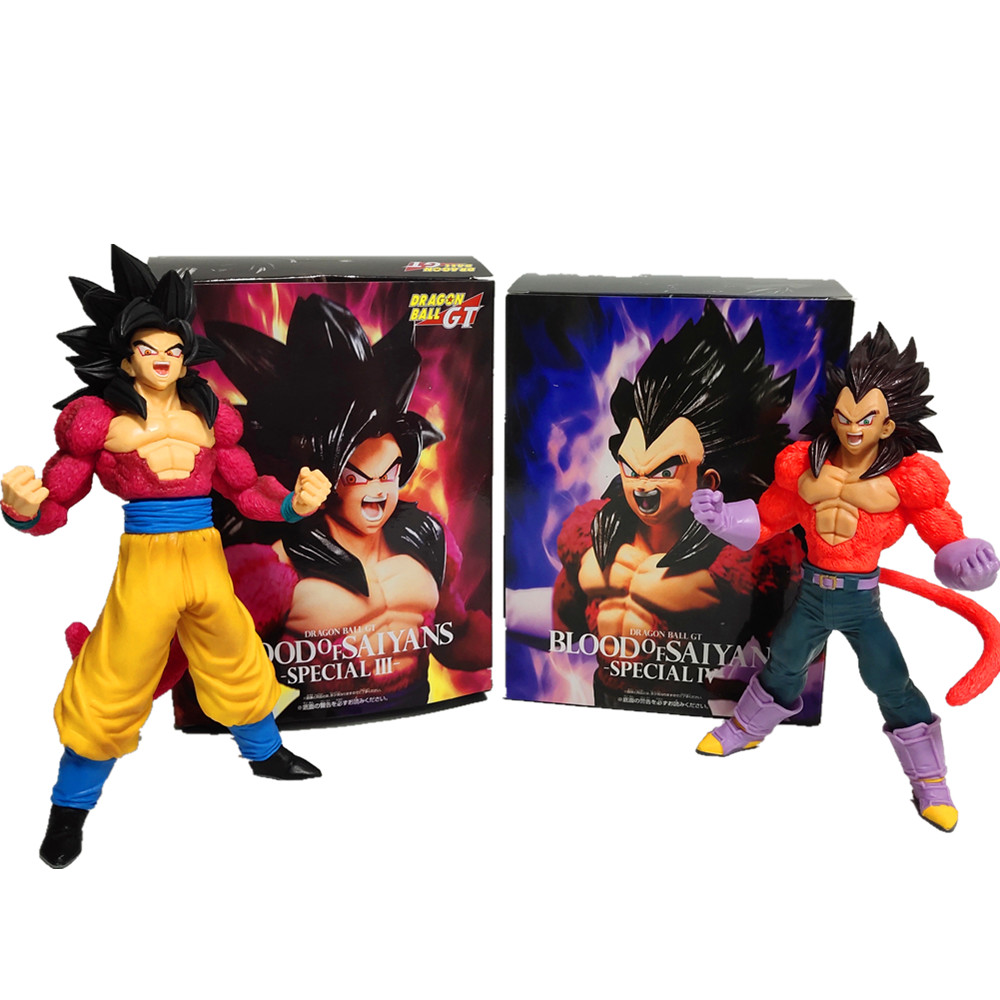 Dragon Ball Z Vegeta Son Goku Super Saiyan 4 Action Figures Anime Dragon Ball GT Vegeta Goku DBZ Figurine Model Toys