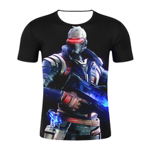 2019 D Print New Hero SOMBRA male Tee Tops new Game Cosplay Mens Summer tshirts OVERWATCH OW 3 Men Women Hip Hop tee shirts