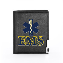 Purse Credit-Card-Holder Men's Wallet EMT Coin-Money-Bags Slim Short for Male Medical-Technician-Printing