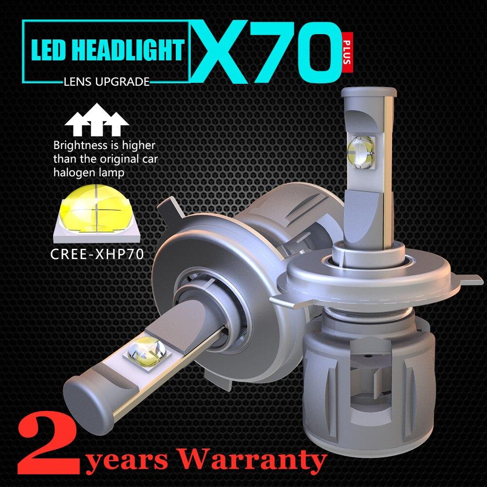 H4 H7 Car LED Headlight Bulbs 120W H11 Led H1 HB3 9005  HB4 9006 D4S D2S D1S D3S XHP70 Chips 15600LM Headlamp Fog Light 6000K