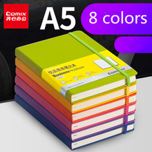 Comix  A5 Notebook Thickened Soft Leather Notepad Color Portable Diary Book Writing Pads planners Office Student stationery