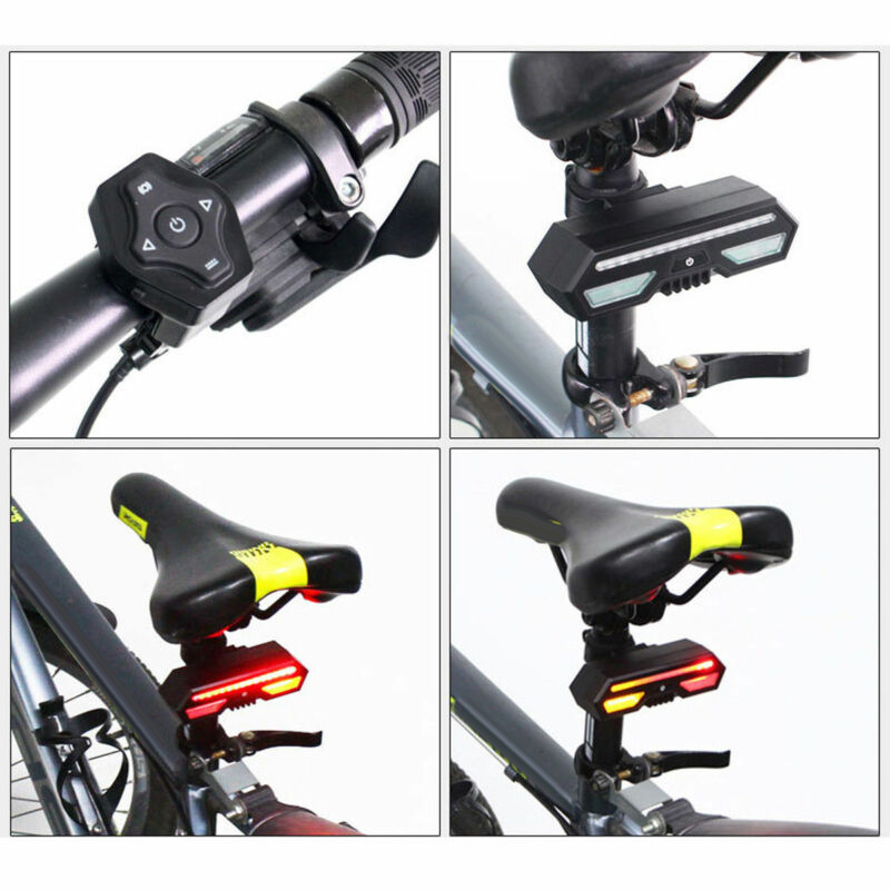 Bike Bicycle Rear Turn Signal Light IPX4 Remote Waterproof USB Rechargeable 100% Brand New And High Quality|Bicycle Light| |  - title=