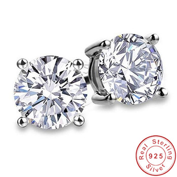 2020 Genuine 925 Sterling Silver Solitaire Stud Earring 9mm Diamond Cz Engagement Wedding Earrings for women.jpg 350x350 - 2020 Genuine 925 Sterling Silver Solitaire Stud Earring 9mm Diamond Cz Engagement Wedding Earrings for women men Party Jewelry