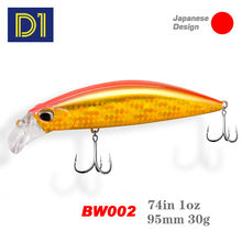 D1 Sinking Heavy Weight Minnow 95mm 30g Jackbait Wobbler 2020 New Sea Bass Perch for Fishing Lure Artificial Fishing Tackle