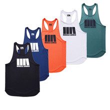 New Brand Clothing Gyms tight Tank tops Muscle Male Fitness Brothers Casual sleeveless Vest Summer Quick dry Bodybuilding Tops