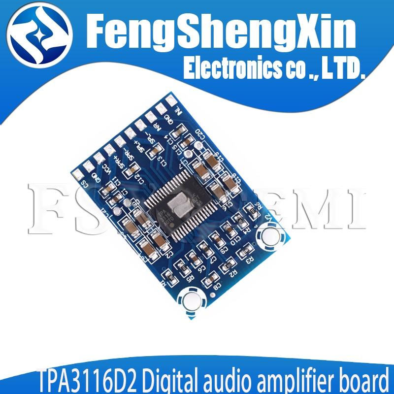 1Pc audio TPA3116D2 2x50W mini digital power audio stereo amplifier board RS