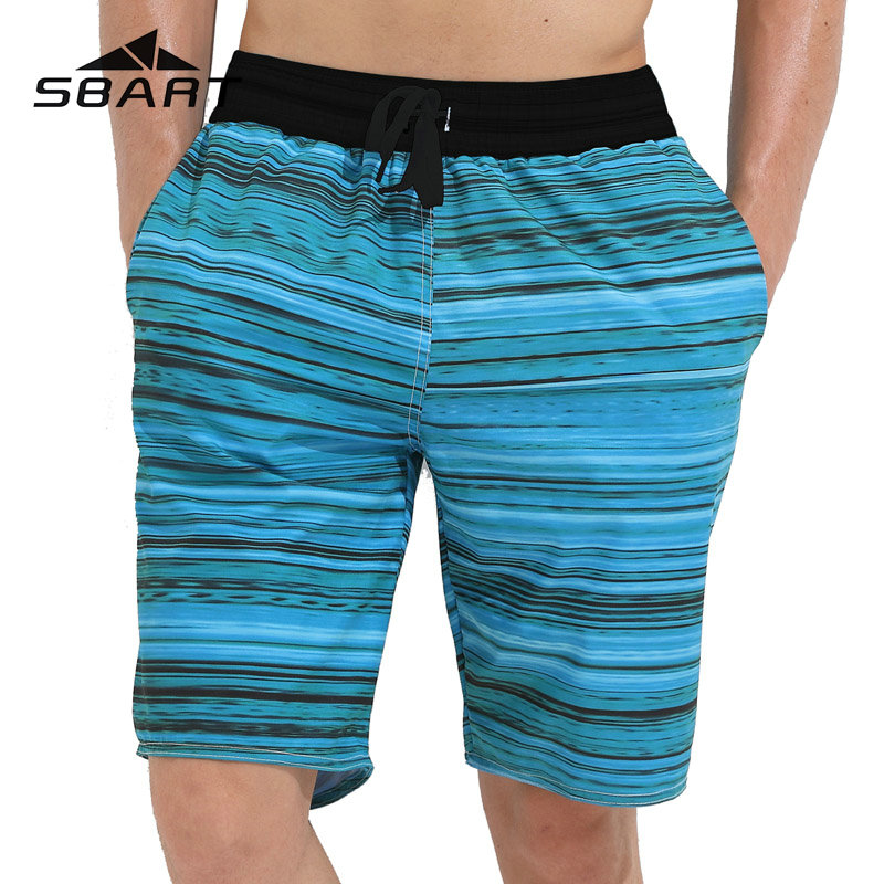 Sbart New Mens Swimming Trunks Quick Dry   Board     Shorts   Striped Male Sport Surfing Running   Shorts   Summer Beach Pants