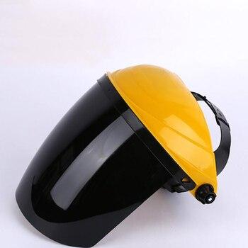 Fiberglass Welding Helmet with Ratchet Headgear Adjustable Safety mask Protective PC Helmet, Clear/Black/Gray/Green Lens