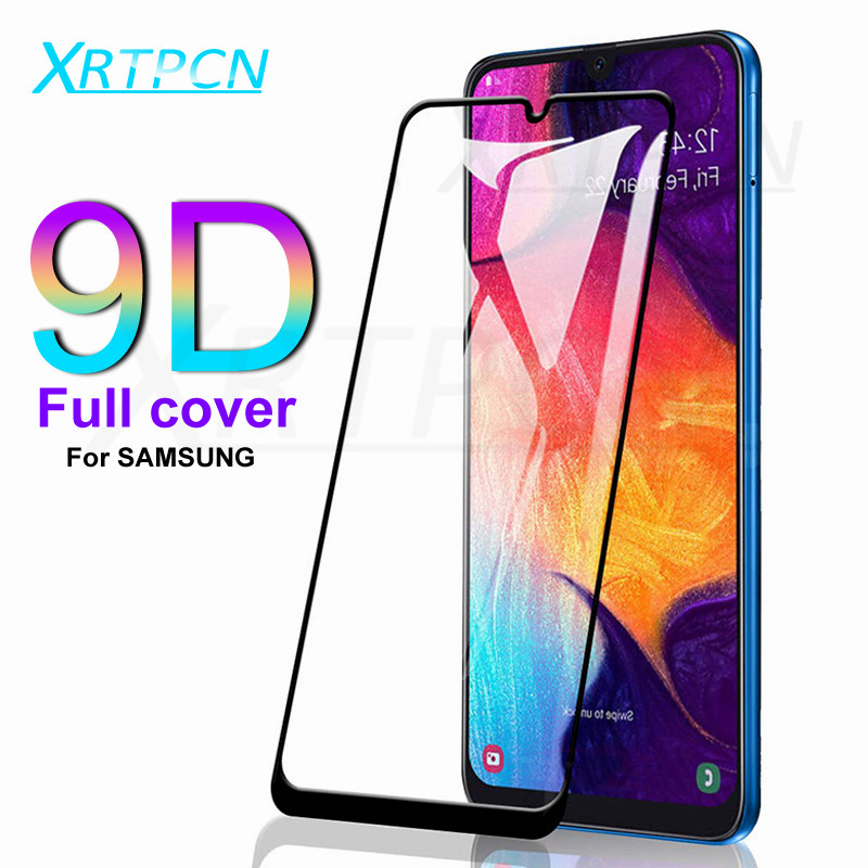 9D Protective Glass On For Samsung Galaxy A50 A40 A30 A20 A10 A60 A70 A80 A90 Tempered Glass Film For Samsung M10 M20 M30 A20
