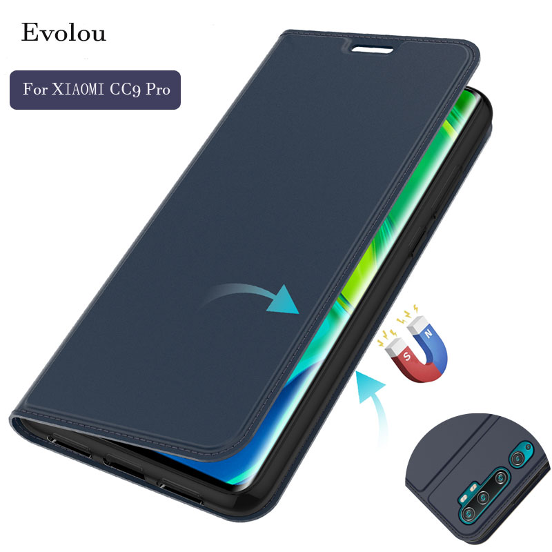 For Xiaomi CC9 Pro Note 10 A3 5X Flip Leather Magnetic Cover for Redmi Note 8T 8 Pro 7A S2 Slim Book Wallet Phone Case Card Slot
