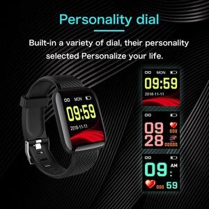 Image 5 - איש נשים חכם צמיד שעון צבע מסך קצב לב לחץ דם ניטור מסלול תנועה חכם להקת עבור אנדרואיד ios של אפל