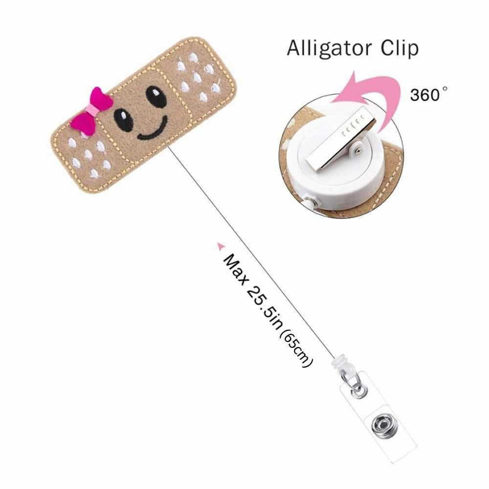 Daughter of The King Retractable ID Card Badge Holder with Alligator Clip Name Nurse Decorative Badge Reel Clip on Card Holders