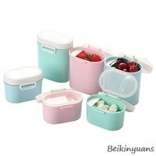 Детский портативный контейнер для сухого молока, еда, герметичная детская молочная смесь, портативная еда для детей, коробка для хранения
