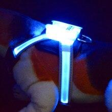 dogled Nylon LED Pet Dog Collar,Night Safety Flashing Glow In The Dark Dog Leash,Dogs Luminous Fluorescent Collars Pet Supplies luminous pet led luminous pet spots fluorescent luminous leopard dog collar articles free shipping 10pcs lot