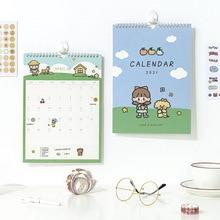 Calendar Desk Timetable Kawaii Planner Reminder Schedule Creative NEW Cute Girl Dog Sl2750