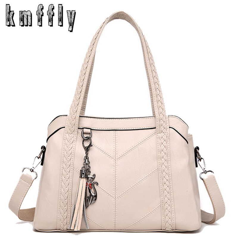 White Leather Handbags Women Multi-pocket Shoulder Bags Fashion Crossbody Bags For Women 2019 Purses And Handbags Bolsa Feminina