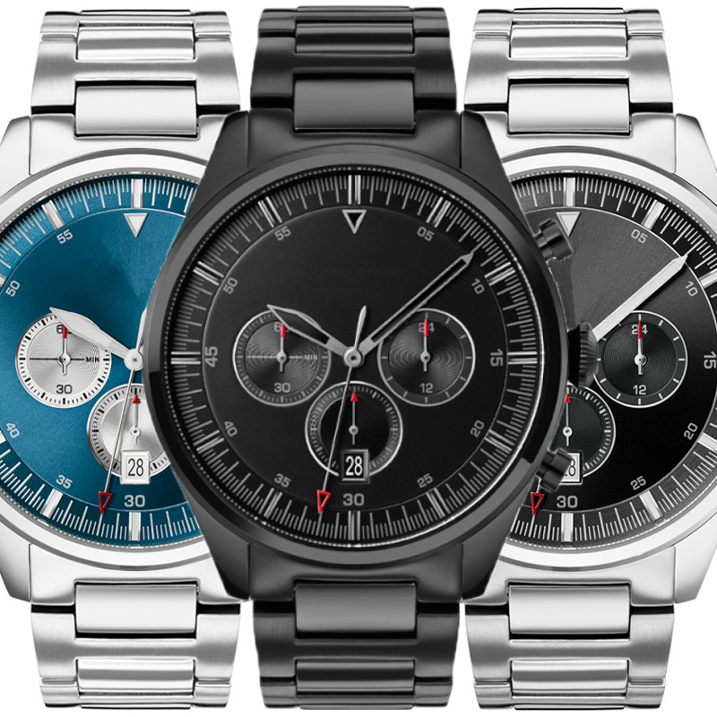 AAA Oxygen Watches Men  Black Dial With Stainless Steel Watch Men's Watches Top Brand Luxury Momentum Boss