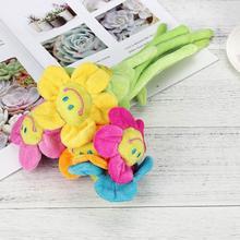 Плюшевый Подсолнух с гибкими стеблями улыбающееся лицо мягкая игрушка домашний декор
