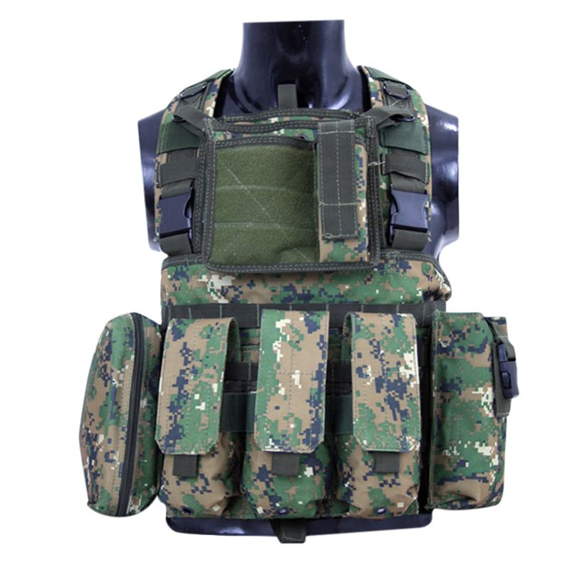 New Sports Safety Tactical Vest Camouflage Multi-function Combat CS Hunting Equipment