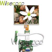 Nuevo 8 pulgadas pantalla LCD 1024*768 Tablet HJ080IA-01E HE080IA-01D Junta de Control de Audio para Raspberry Pi 3B 2 1 VGA AV