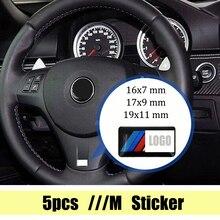 Эмблема рулевого колеса для BMW X2 X3 X5 X1 GT E39 E46 E49 E53 E60 E92 E87 E81 E90 F30 F11 M6 M3 M5 Z3 G38, 5 шт.