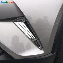 Для Toyota CHR C-HR внешний ABS Хром передний бампер боковая решетка крышка отделка передняя противотуманная фара протектор Аксессуары