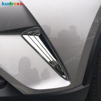 Pour Toyota CHR C-HR 2016 2017 2018 extérieur ABS Chrome pare-chocs avant côté Grille couverture garniture avant protection de feu de brouillard accessoires