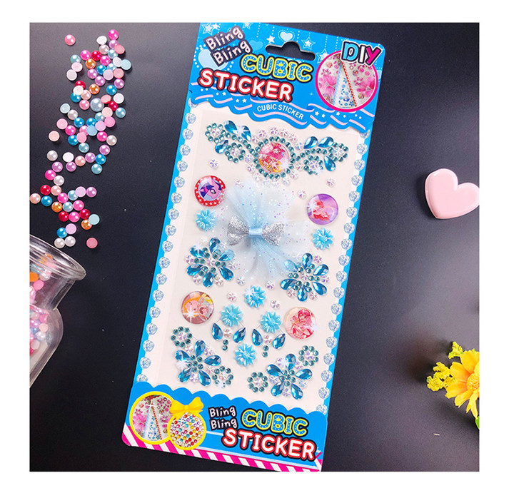 6  Lace Bow Diamond Stickers For Handmade Diy Mobile Phone Car Bag Gift Box Decoration Women Colorful Rhinestones Butterfly Stickers