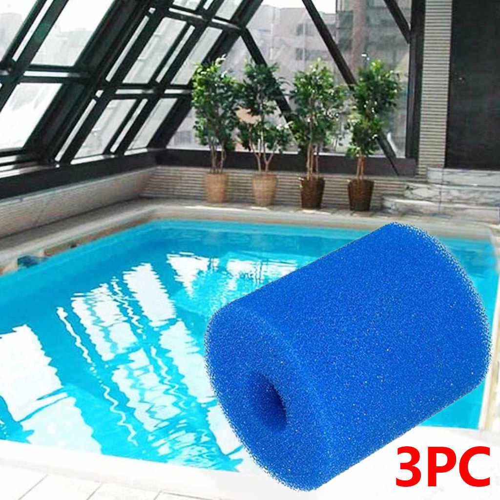 3pcs Foam Pool Filter Washable Re-usable Clean Water Cartridge Sponge  Filters Cleaning Swimming Pool Reusable Cleaner Tool