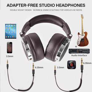 Image 5 - Oneodio fones de ouvido estéreo com fio estúdio profissional dj fone de ouvido com microfone sobre o monitor estúdio fone baixo