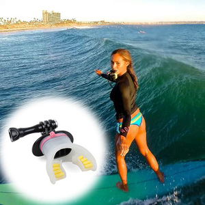 Image 4 - Action Camera Surf Mouth Mount for GoPro Hero 8 7 5 6 4 Black Silver Session Xiaomi 4K SJCAM SJ7 H9 Go Pro Surfing Accessory