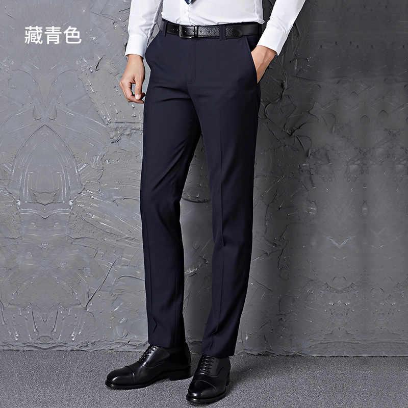 Homens tamanho grande s = 27-40 preto masculino terno calças fino ajuste calças de negócios marca homem primavera 2020 china inported roupas