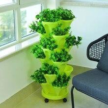Pot de culture à empiler 6 couches, Pot de plantation de légumes, Melon, fruits, fraises, Pot de semis de jardin, décor de maison