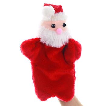 30cm boże narodzenie pacynka Cartoon święty mikołaj pluszowe maskotki lalki dziecko pluszowe zabawki zabawny prezent Kid pluszowa pacynka zabawki #20 tanie i dobre opinie LISHEN safe use Plush Puppet 5-7 lat Unisex
