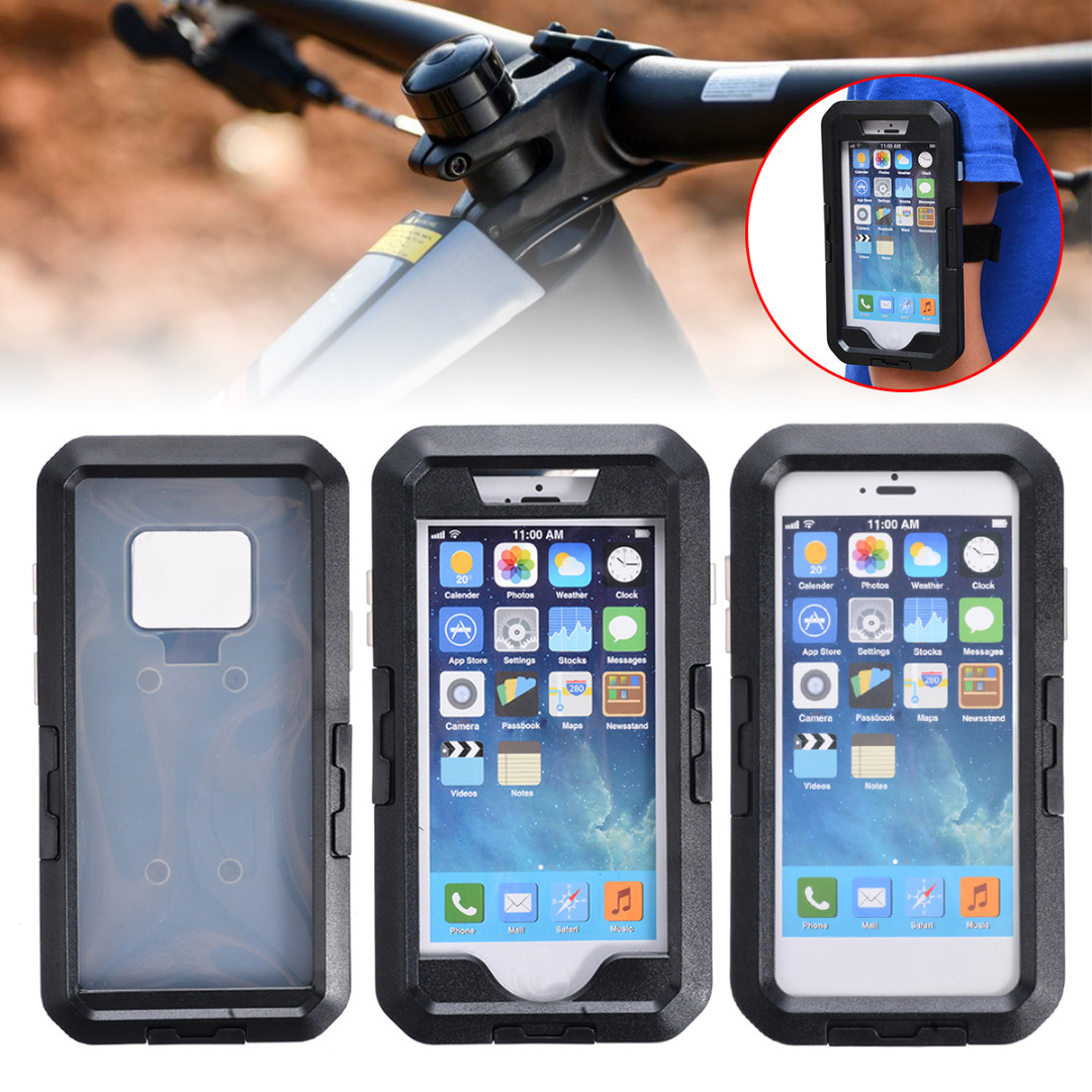 Newest Phone Holder 360 Degree Waterproof Cell Bike Motorcycle Handlebar Mount High Quality Case Bag For phone