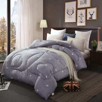 CF2 Wool And Cotton Fabric Blending And Filling Warm Silky Winter Two Colors Comforter Twin Queen Full Queen Size Quilts