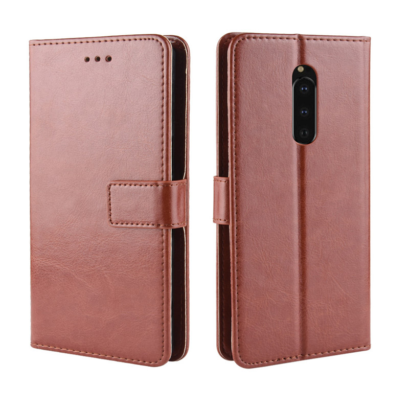 Coque XZ3 XZ4 L3 XA3 XA2 Ultra Couples Simple Fashion Flip Wallet Case For Sony Xperia 1 10 Plus XZ4 XZ2 Compact XZ Card Cover in Wallet Cases from Cellphones Telecommunications