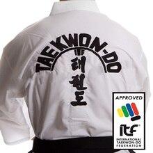 ITF Taekwondo Ultralight Taekwondo Uniform Assistant Doboks Kimono Embroidery Pattern Martial Arts Uniform 1-3 Dan for Adult original jcalicu world taekwondo poomsae dan doboks jc wt junior dan male