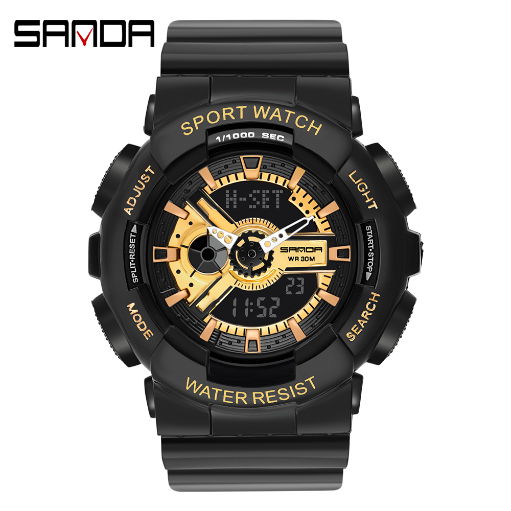 2020 SANDA Military Men's Watch Top Brand Luxury Waterproof Sport Wristwatch Fashion Quartz Clock Couple Watch relogio masculino 19