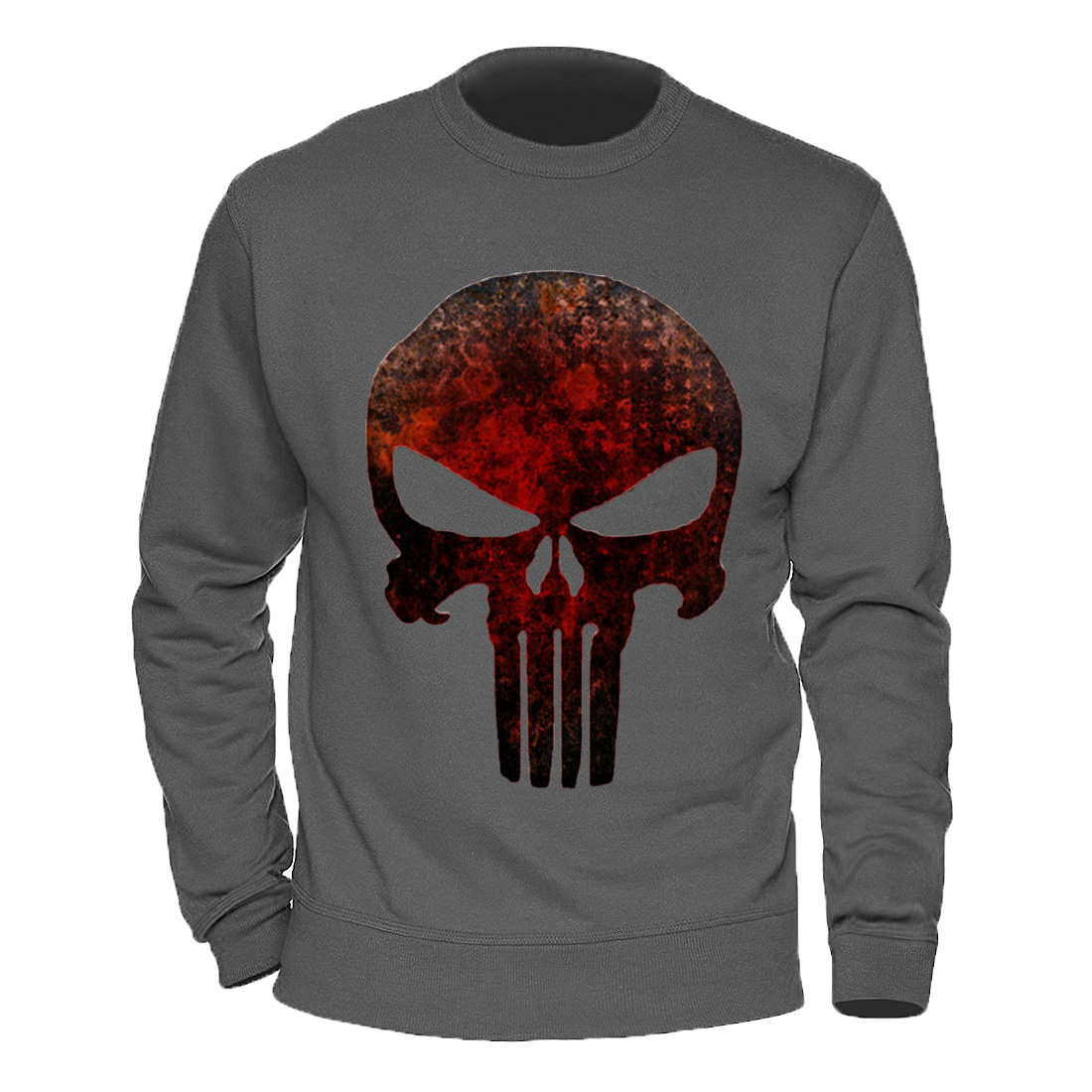 Terror Skull Ghost Sweatshirt Men Punisher Black Summer Long Sleeve Hoodies Tops Printing Casual Cotton Male Clothing