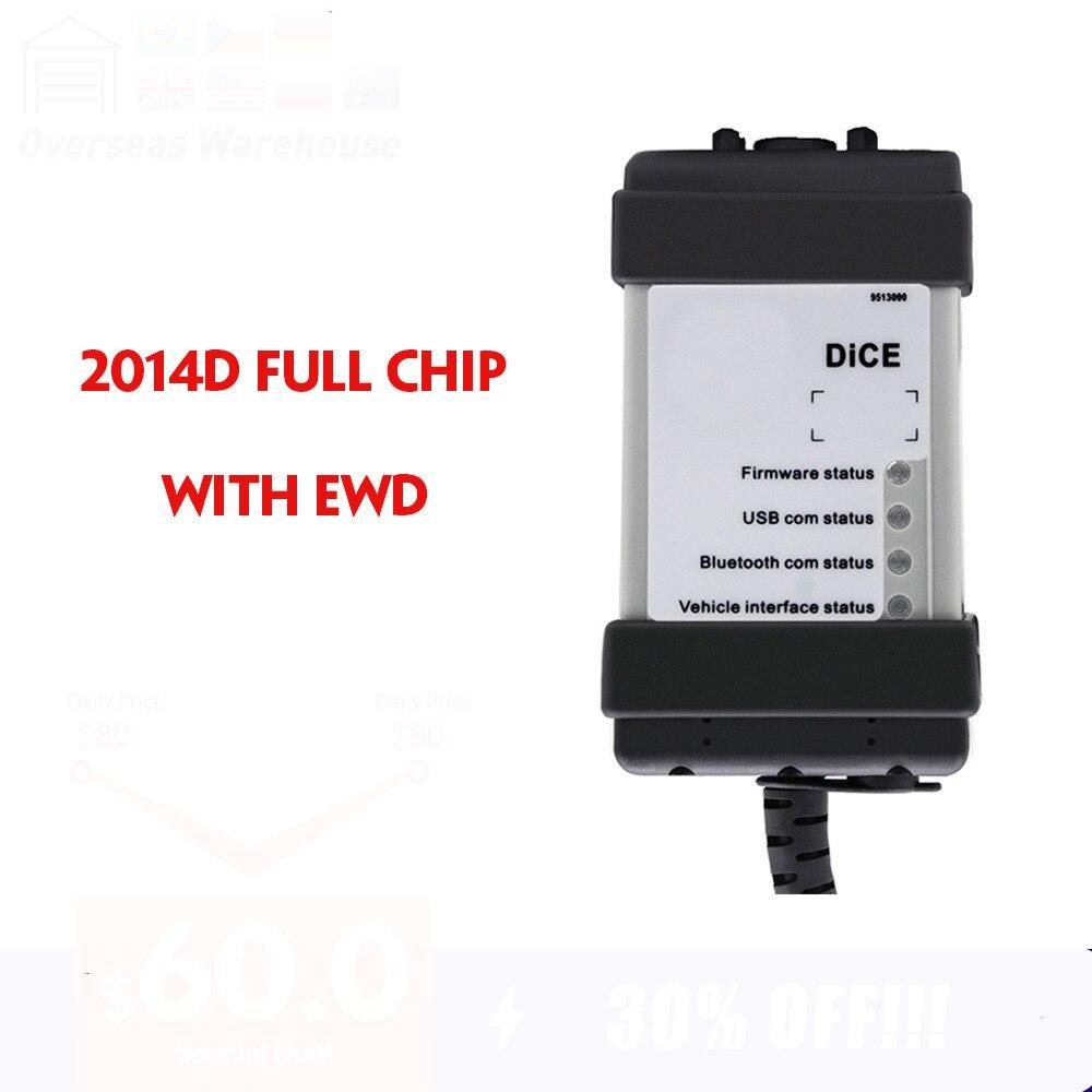 VIDA dés puce complète pour Volvo dés 2014D outil de Diagnostic multi-langue pour Volvo Vida DICE Pro carte verte Vida dés avec EWD