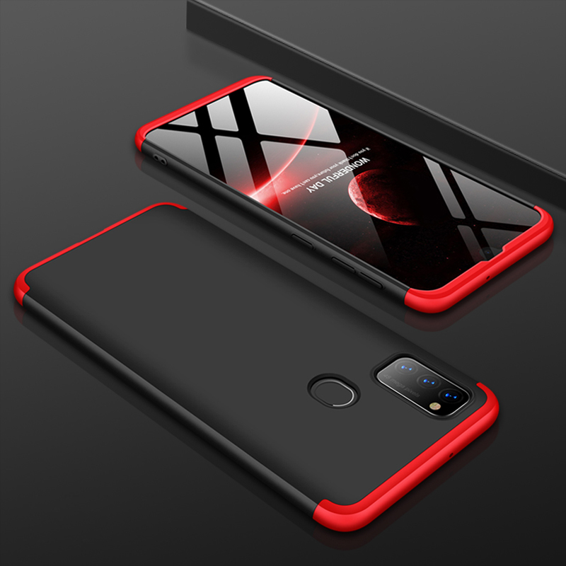 For Samsung Galaxy M30S Case 360 Degree Full Body Hard Cover Case For Samsung M30S Hybrid Shockproof Case + Tempered Glass Film