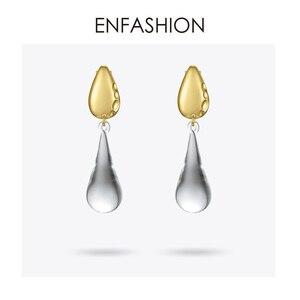 Image 2 - ENFASHIONหยดน้ำคริสตัลDropต่างหูสำหรับผู้หญิงสีทองยาวDangleต่างหูแฟชั่นเครื่องประดับDropshipping E191145