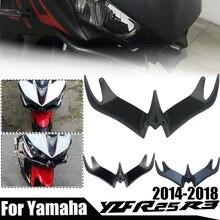 Frente da motocicleta carenagem aerodinâmica winglets capa proteção para yamaha yzfr25 yzfr 25 yzfr3 2014-2018 acessórios do motor