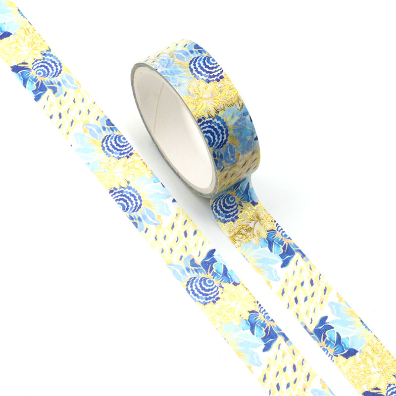 NEW 1pc Beautiful Art Sunflower Foil Washi Tape Set For DIY Planner Scrapbooking Decorative Masking Tape School Office Supplies
