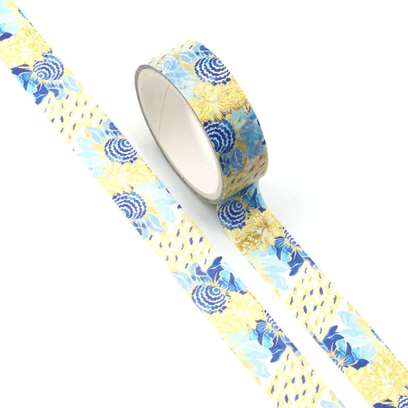NEW 1pc Beautiful Art Sunflower Foil Washi Tape Set for DIY Planner Scrapbooking Decorative Masking Tape School Office Supplies
