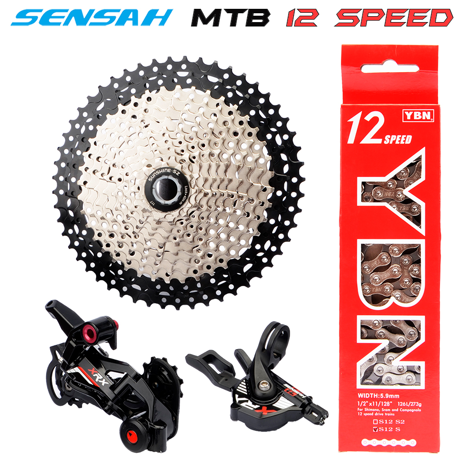 free delivery SENSAH MTB SRAM 12 Speed SHIMANO DEORE XT M8000 <font><b>M9100</b></font> Groupset Mountainbike 1x12-Speed 52T Bicycle Derailleur image