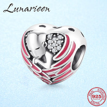 Hot Flying Love Wing of angels 925 Sterling Silver Beads Fit Original Pandora Charm Bracelets Jewelry making(China)