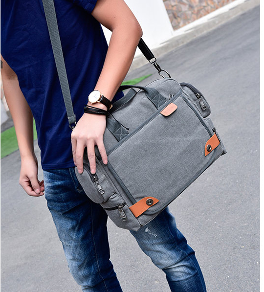 High Capacity Men Shoulder Briefcase Retro Style Mens Cloth Work Bag Wearproof Multifunction Business Bags Bolso Hombre DF341