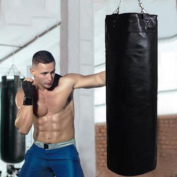Boxing Sandbags Punch Bag High-strength leather sandbag with Heavy Duty Steel Chain for Home Outdoors Gym